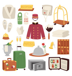 hotel or accommodation icon set travel symbol vector image vector image