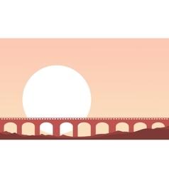 Landscape of bridge background vector