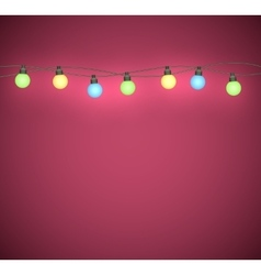 Light bulbs garland vector image