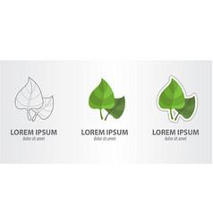 logo leaf vector image vector image