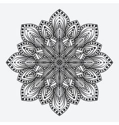 mandala stylized floral circular monochrome vector image