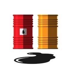 Oil barrel capacity tank vector image