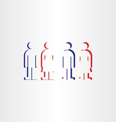 people icons man woman symbols toilet sign vector image