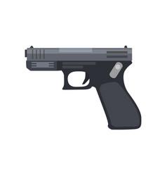 pistol gun revolver vintage weapon handgun vector image