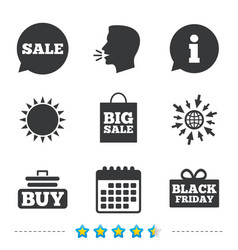 Sale speech bubble icons buy cart symbol vector