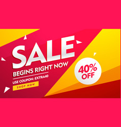 Sale voucher discount and offers banner design vector