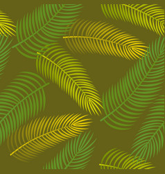 Seamless pattern with palm leaves vector