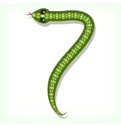 Snake font Digit 7 vector image vector image