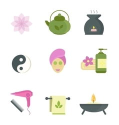 Spa beauty body care icons vector image vector image