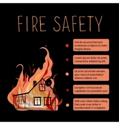 Template of fire safety placard vector image vector image