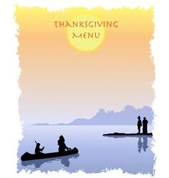 Thanksgiving menu vector