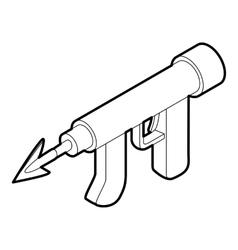 Underwater speargun icon outline style vector