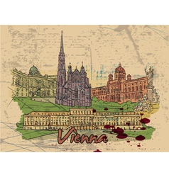vienna doodles vector image vector image