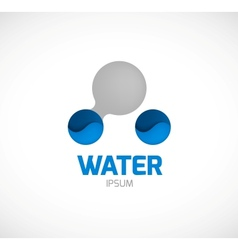 Water symbol vector image