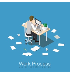 Work process scene light vector image