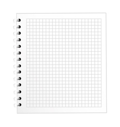 Note book school isolated icon vector