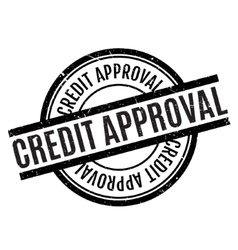 Credit approval rubber stamp vector