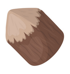 conical log canada single icon in cartoon style vector image