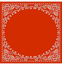 Red cowboy bandanna vector