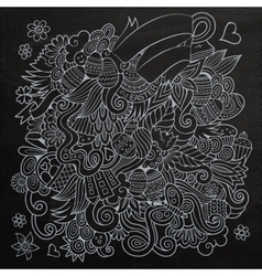 Doodles abstract decorative easter chalkboard vector