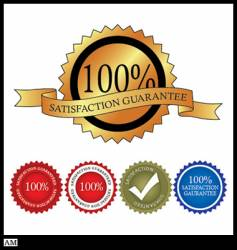 100 percent satisfaction gaurantee vector