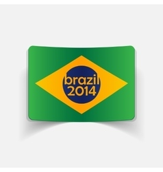 Realistic design element brazil vector