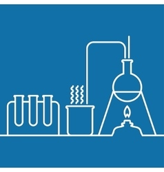 Chemistry with lab test and research equipment vector