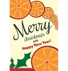 Holiday background with cinnamon and orange vector