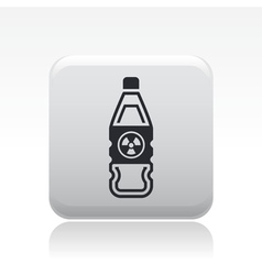 Danger bottle icon vector