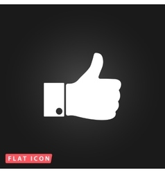 Like flat icon vector