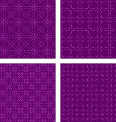 Dark purple seamless pattern background set vector