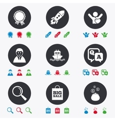 Online shopping e-commerce and business icons vector