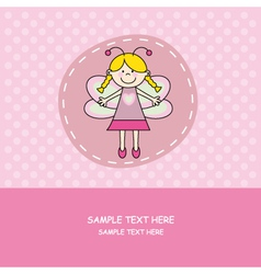 girl with butterfly costume vector image