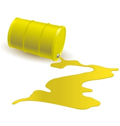 Barrel with yellow liquid vector