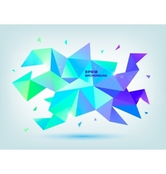 Abstract colorful blue purple green vector