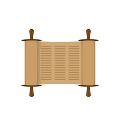 Ancient scroll in flat style vector image