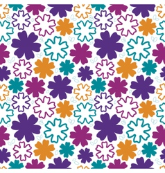 Bold flowers seamless pattern vector image vector image