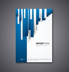 Brochures book or flyer with abstract blue white vector image
