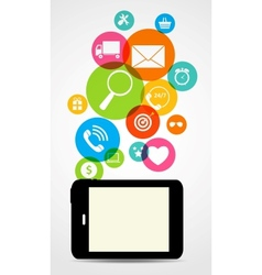 Business internet on different electronic devices vector