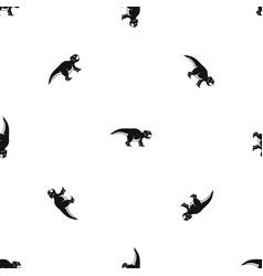 Ceratopsians dinosaur pattern seamless black vector