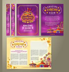 circus flyer banner vector image vector image