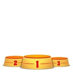 Empty Podium Round Winners Pedestal vector image