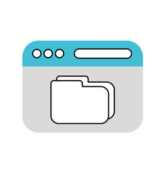 file folder with documents vector image