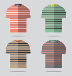 Flat Design T-Shirt Set vector image vector image