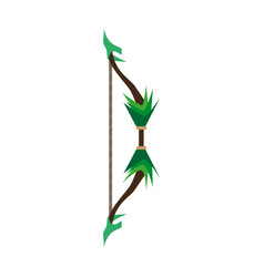 Game bow arrow target archery weapon icon vector