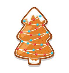 Gingerbread cookies tree of merry vector