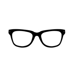 glasses icon simple isolated symbol black vector image