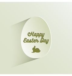 Happy easter lettering in egg on textured paper vector image vector image