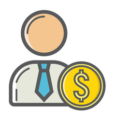 investor filled outline icon business finance vector image