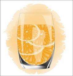 Orange juice on a white background vector image vector image